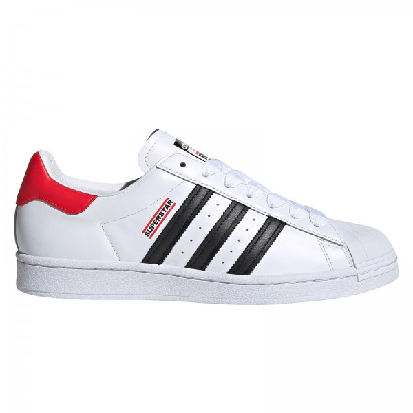 adidas Originals x Run-DMC Superstar '50th Anniversary' (Footwear White/Core Black/Hi-Res Red)
