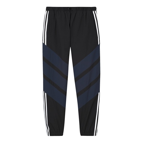 adidas Skateboarding 3-Stripes Wind Pant (Black/Collegiate Navy/Carbon)
