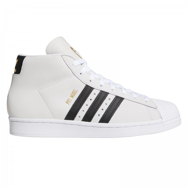 adidas Skateboarding Pro Model (Footwear White/Core Black/Gold Metallic)