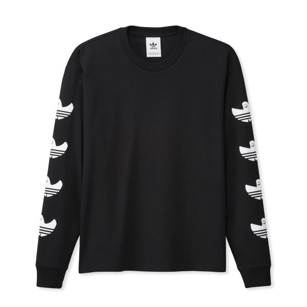 adidas Skateboarding Shmoofoil Long Sleeve T-Shirt (Black/White)