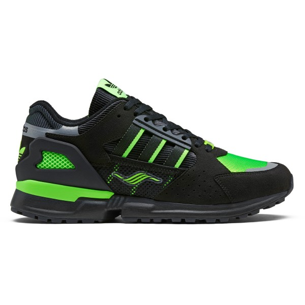 adidas x Jacques Chassaing ZX 10,000 C (Core Black/Solar Green Reflective)