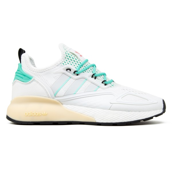 adidas ZX 2K Boost (Crystal White/Grey One/Hi-Res Green)