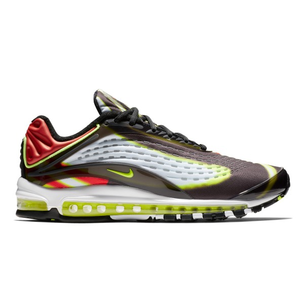 Nike Air Max Deluxe 'Habanero Red' (Black/Volt-Habanero Red-White)