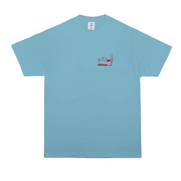 Alltimers Shark Dick Embroidered T-Shirt (Pacific Blue)