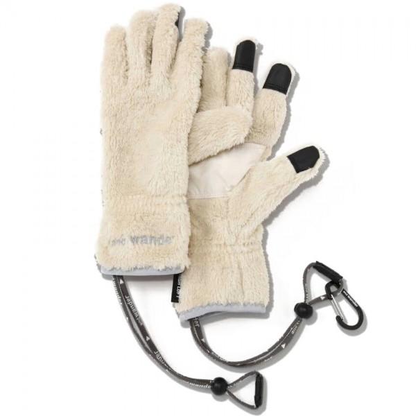 and wander High Loft Fleece Gloves (Off White)