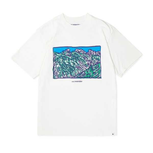 and wander Mountain T-Shirt (Off White)