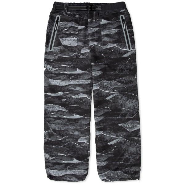 and wander Printed Vent Pants (Black)