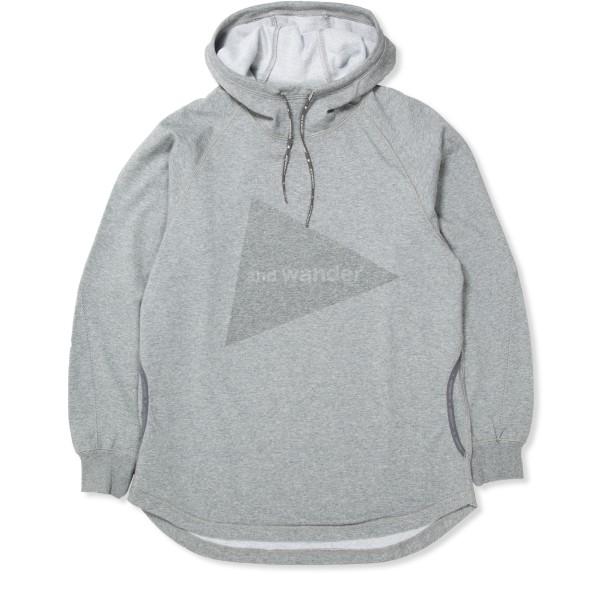 and wander Pullover Hooded Sweatshirt (Grey)