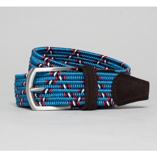 Anderson's Plaited Elasticated Belt (Red/White/Blue/Navy/Black)