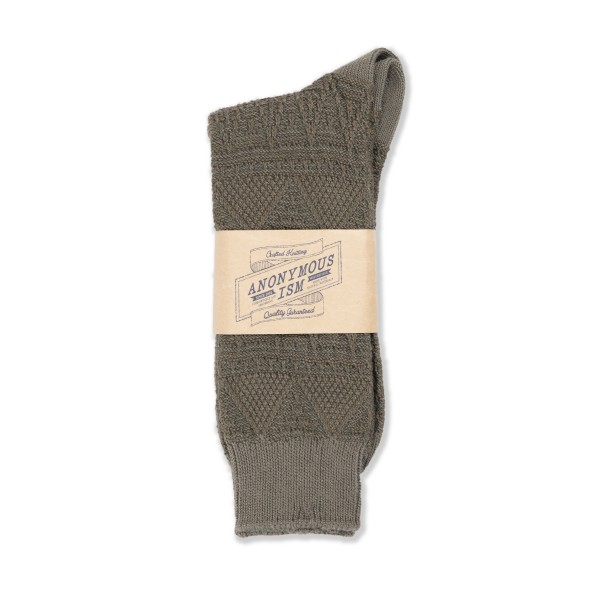 Anonymous Ism Mountain Range Sock (Olive)