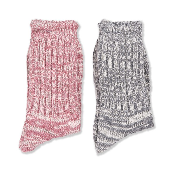 Anonymous Ism Remining Socks 2 Pack (Grey/Pink)