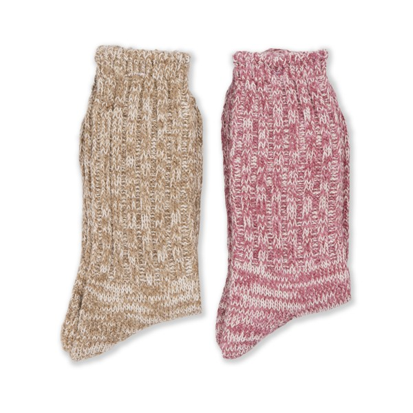Anonymous Ism Remining Socks 2 Pack (Pink/Beige)