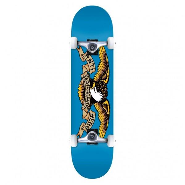 "Anti Hero Classic Eagle SM Complete Skateboard 7.5"" (Blue)"