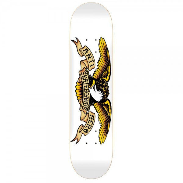 "Anti Hero Classic Eagle XXL Skateboard Deck 8.75"" (White)"