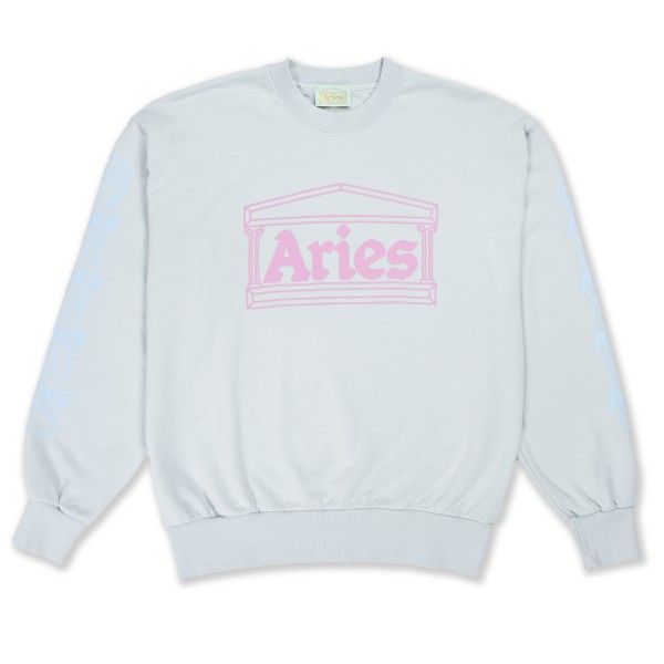 Aries Column Crew Neck Sweatshirt (Baby Blue)