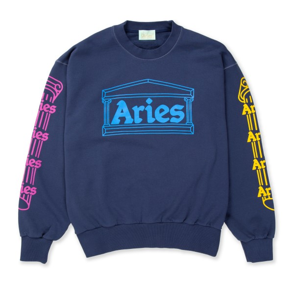 Aries Column Crew Neck Sweatshirt (Blue)