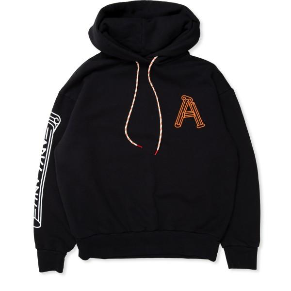 Aries Greek Column Pullover Hooded Sweatshirt (Black)