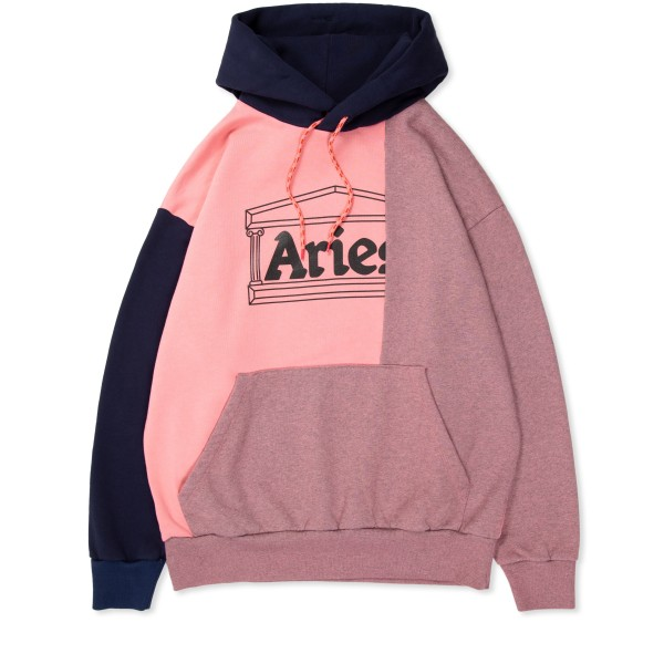 Aries OD Colourblock Pullover Hooded Sweatshirt (Pink)