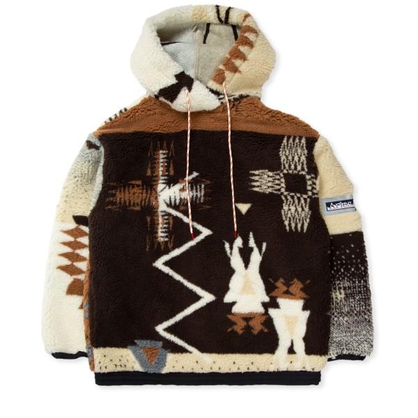 Aries Oversized Ikat Hooded Fleece (Multi)