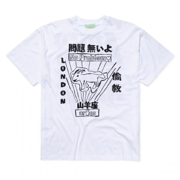 Aries Plastic Bag T-Shirt (White)