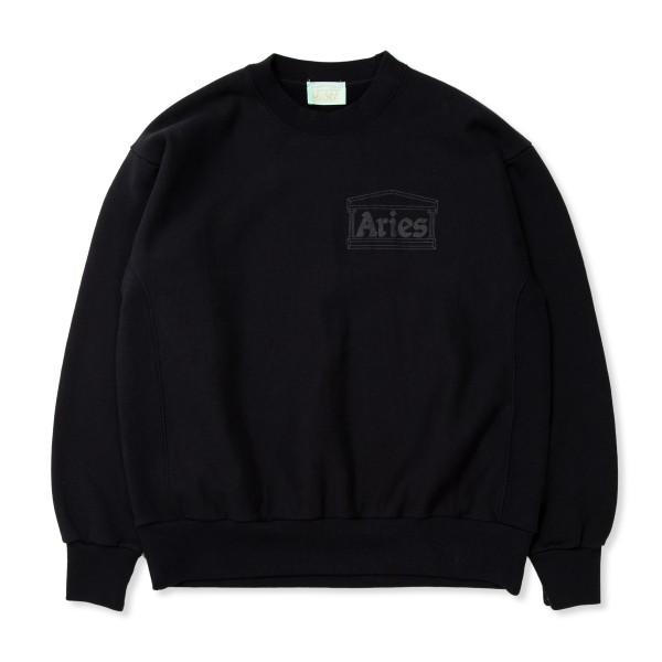 Aries Premium Temple Crew Neck Sweatshirt (Black)