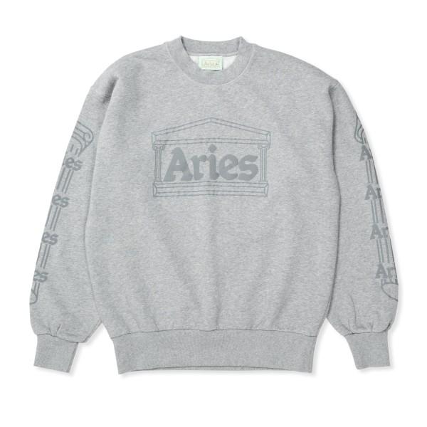 Aries Reflective Column Crew Neck Sweatshirt (Grey Reflective)