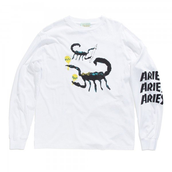 Aries Scorpion Long Sleeve T-Shirt (White)