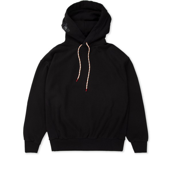 Aries Temple Hood Pullover Hooded Sweatshirt (Black)