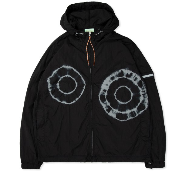Aries Tie-Dye Windcheater Hooded Jacket (Black)