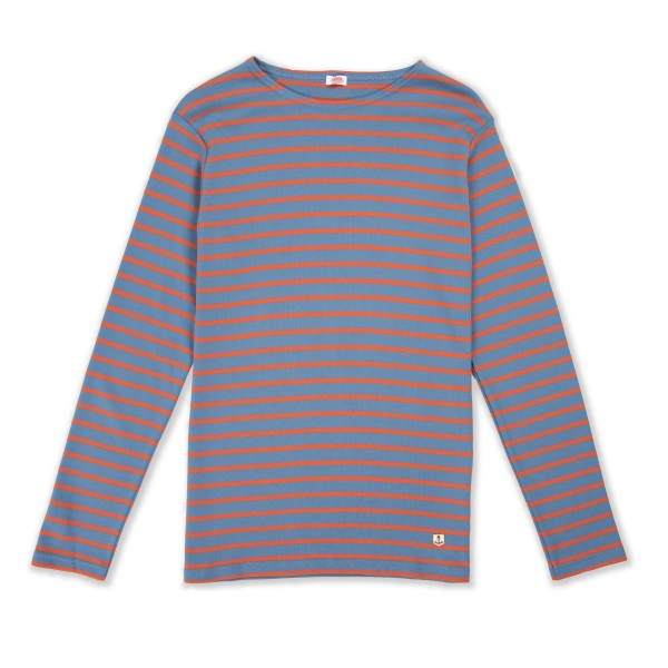 Armor-Lux Marinere Long Sleeve T-Shirt (Beetle/Orange)