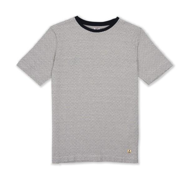 Armor-Lux Zig Zag T-Shirt (Rich Navy/Zand)