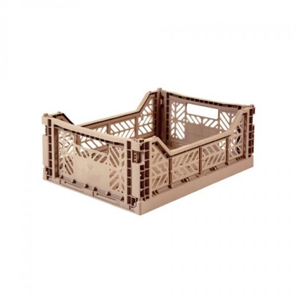 Aykasa Midi Foldable Crate (Warm Taupe)