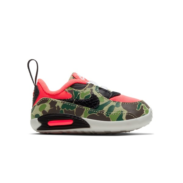 Baby Nike Max 90 Cot Bootie 'Reverse Duck Camo' (Infrared/Black)