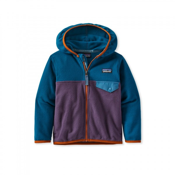 Baby Patagonia Micro D Snap-T Fleece Jacket (Piton Purple)
