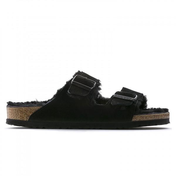 Birkenstock Arizona Fur Suede Leather Regular Fit (Black)