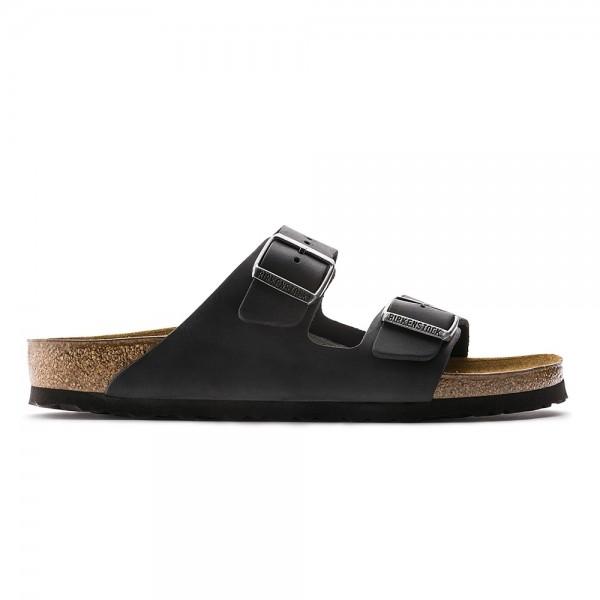 Birkenstock Arizona Narrow Fit (Black Oiled Leather)