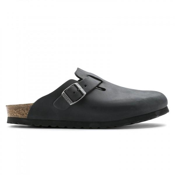 Birkenstock Boston Oiled Leather Narrow Fit (Black)