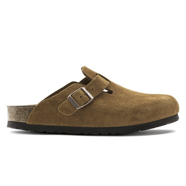 Birkenstock Boston Soft Footbed Suede Leather Narrow Fit (Mink)