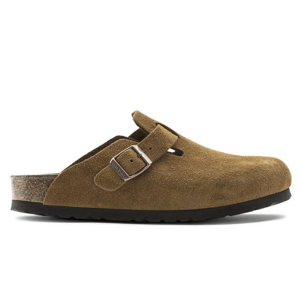 Birkenstock Boston Soft Footbed Suede Leather Regular Fit (Mink)
