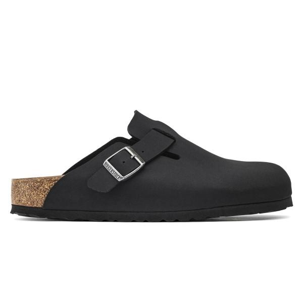 Birkenstock Boston Vegan Birko-Flor Leather Narrow Fit (Black)