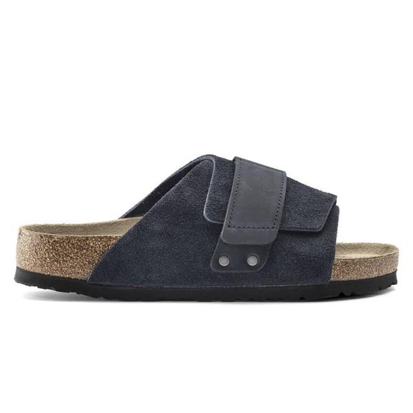 Birkenstock Kyoto Soft Footbed Nubuck/Suede Leather Regular Fit (Midnight)