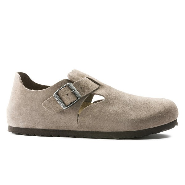 Birkenstock London Suede Leather Narrow Fit (Taupe)