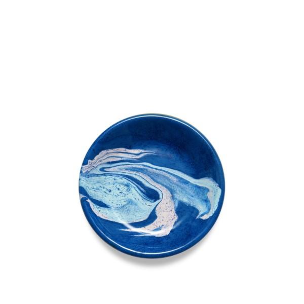 BORNN Marble Sauce Plate 12cm (Cobalt)