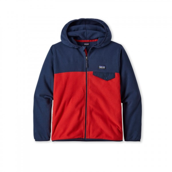 Boys' Patagonia Micro D Snap-T Fleece Jacket (Fire)