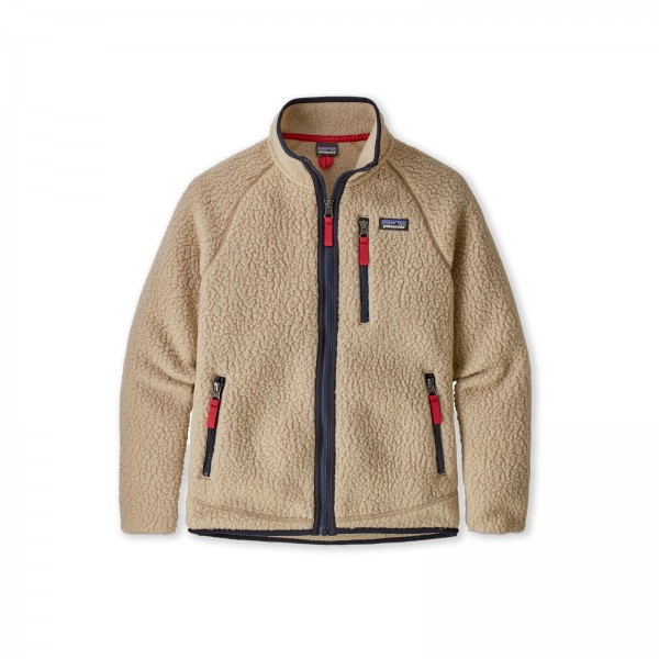 Boys' Patagonia Retro Pile Fleece Jacket (El Cap Khaki)