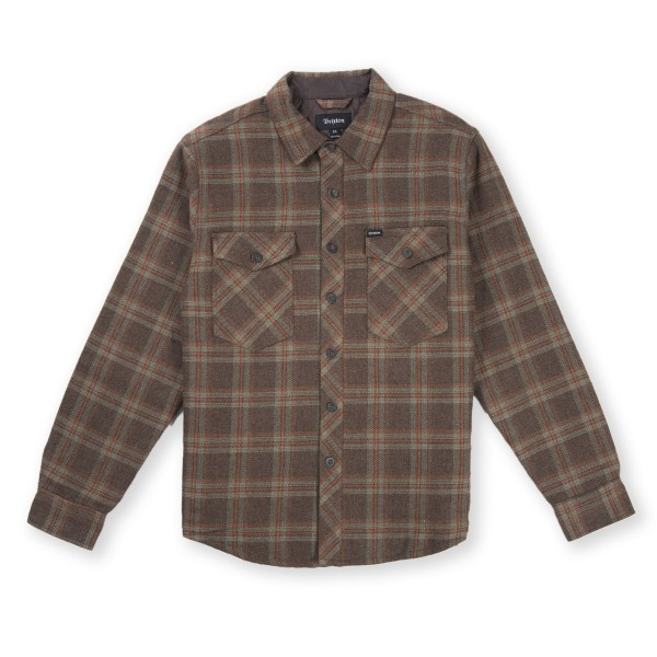 Brixton Manchester Quilted Flannel Shirt (Brown)