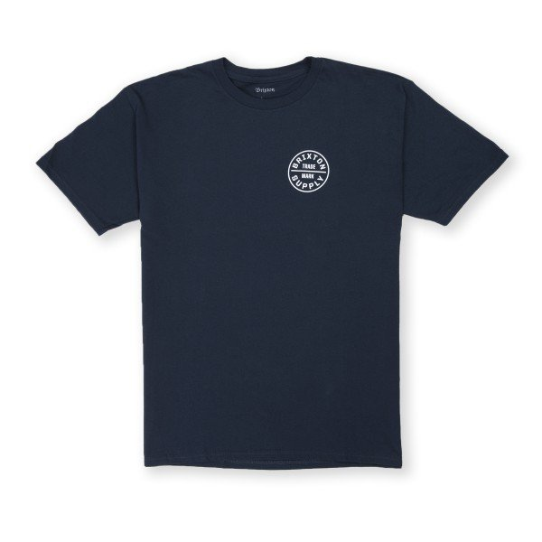 Brixton Oath Standard T-Shirt (Navy/Navy/White)