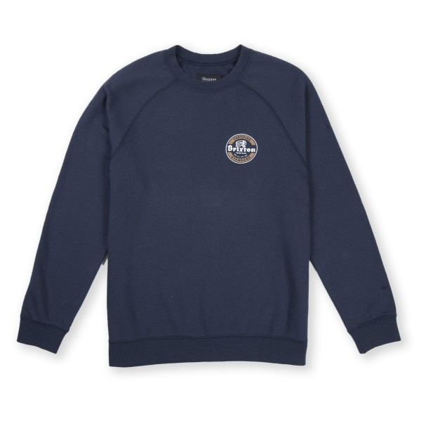 Brixton Soto Crew Neck Sweatshirt (Washed Navy)