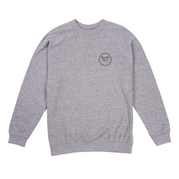 Brixton Wheeler Crew Neck Sweatshirt (Heather Grey)