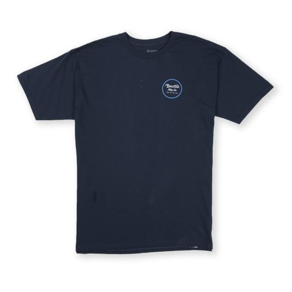 Brixton Wheeler II Standard T-Shirt (Navy/Royal)